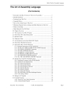 The Art of Assembly Language Brief Contents