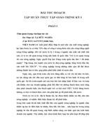 Bài thu hoạch tập huấn thực tập giáo trình kỳ I