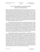 Cải cách chính sách ngoại thương trong từng nội dung