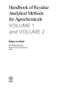 Handbook of Residue Analytical Methods for Agrochemicals 2 Volume set