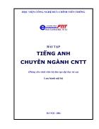 Bài tập tiếng Anh chuyên nghành CNTT