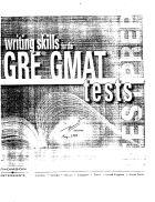Writing skills GRE GMAT