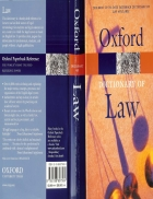 A Dictionary of Law 6th Edition