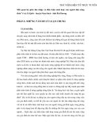 Mối quan hệ giữa thu nhập và điều kiện sinh hoạt của người dân nông thôn ở xã Ái Quốc huyện Nam Sách tỉnh Hải Dương