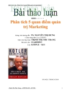 Phan tich 5 quan diem quan tri Marketing
