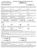 Đề thi thử đại học môn lý