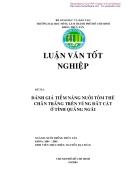 Đánh giá tiềm năng nuôi tôm thẻ chân trắng trên vùng đất cát ở tỉnh Quảng Ngãi