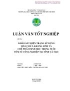 Khảo sát hiện trạng sử dụng hóa chất kháng sinh và chế phẩm sinh học trong nuôi tôm sú công nghiệp tại tỉnh Cà Mau