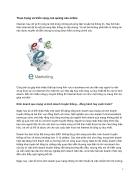 Thực trạng và triển vọng của quảng cáo online Internet