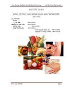 Dinh dưỡng cho bệnh nhân mắc bệnh tiểu đường