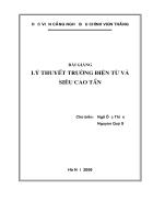 Bài giảng kỹ thuật vi xử lý lý thuyết trường và siêu cao tần