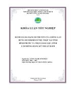 Đánh giá đa dạng di truyền của giống lan rừng Dendrobium thu thập tại tỉnh Bình Phƣớc và thị xã Bảo Lộc tỉnh Lâm Đồng bằng kỹ thuật RAPD