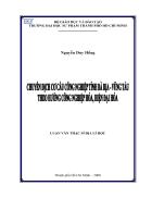 Chuyển dịch cơ cấu công nghiệp tỉnh Bà Rịa Vũng Tàu theo hướng công nghiệp hóa hiện đại hóa