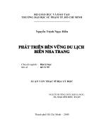 Phat trien ben vung du lich bien Nha Trang
