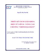 Thiết kế sách giáo khoa điện tử lớp 10 nâng cao chương Nhóm Halogen