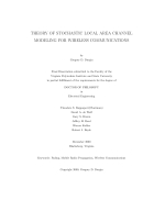Theory of stochastic local area channel modeling for wireless communications