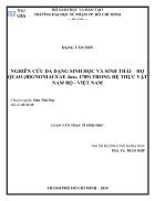 NGHIÊN CỨU ĐA DẠNG SINH HỌC VÀ SINH THÁI HỌ QUAO BIGNONIACEAE Juss 1789 TRONG HỆ THỰC VẬT NAM BỘ VIỆT NAM