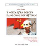 Ýnghĩa lịch sử sự ra đời của Đảng cộng sản Việt Nam