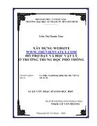Xây dựng website www thuvienvatly com hỗ trợ dạy và học vật lý ở trường Trung Học Phổ Thông