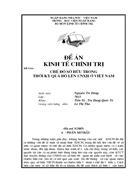 Chế độ sở hữu trong thời kỳ quá độ lên CNXH ở việt nam 1