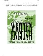TOEFL Writing TWE Topics and Model Essays 2002
