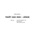 Giáo trình triết học Mac Lenin
