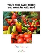 Thực Phổ Bách Thiên 100 Món Ăn Huế