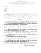 Bài thu hoạch Nghị quyết Đại hội Đại biểu toàn quốc lần thứ XI của Đảng