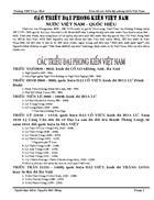Tóm tắt các triều đại việt nam Lịch sử 7