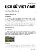 Lịch Sử Việt Nam Tự cổ Chí Kim Rất tuyệt