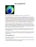 Suy giảm tầng Ozon điều quan tâm nhân loại