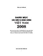 Danh mục các đơn vị hành chính Việt Nam 2008