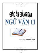 V11 Giáo án Ngữ văn 11 cả năm 438 trang