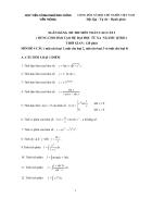 Ngân hàng đề thi giải tích 1 HVBCVT 1