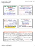 Xác suất thống kê bảng phân phối bài tập trắc nghiệm xác suất thống kê