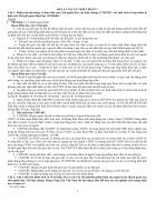 K18 Đáp án 30 câu hỏi ôn thi Triết Học của thầy Thu Cao Học Kinh Tế TpHCM