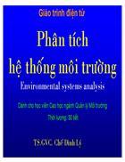 Bài giảng Phân tích hệ thống môi trường
