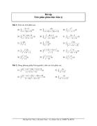 Bài tập tích phân phân thức hữu tỷ