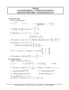 Bài tập Đạo hàm riêng Vi phân toàn tập Đào hàm hàm hợp Đạo hàm hàm ẩn