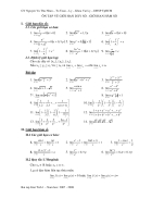 Ôn tập về Giới hạn dãy số Giới hạn hàm số