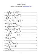 Phương pháp và bài tập tích phân hàm lượng giác