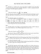Bài tập địa chất công trình