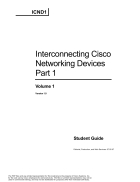 Interconnecting Cisco Networking Devices Volume 1
