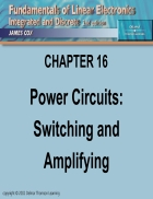 Power Circuits Switching and Amplifying
