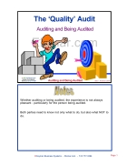 The Quality Audit Auditing and Being Audited