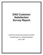 DAS Customer Satisfaction Survey Report