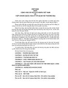 Hiệp định giữa cộng hoà xã hội chủ nghĩa việt nam và hợp chủng quốc hoa kỳ về quan hệ thương mại