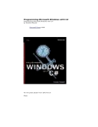 Programming Microsoft Windows with C