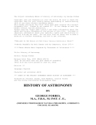 The Project Gutenberg EBook of History of Astronomy by George Forbes