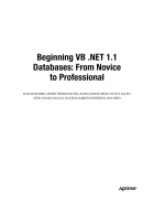 Beginning VB NET 1 1 Databases From Novice to Professional